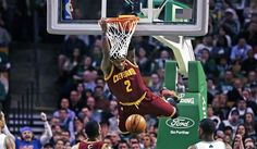 Cleveland Cavaliers point guard Kyrie Irving showed off his wide array of offensive skills early in Monday's game against the Indiana Pacers, even throwing down the 12th dunk of his NBA career.