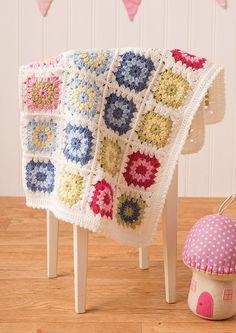 Crochet Blanket in Deramores Baby DK (1018) Digital Version