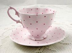 Royal Albert Pink Polka Dot Tea Cup and Saucer, Vintage Royal Albert | eBay