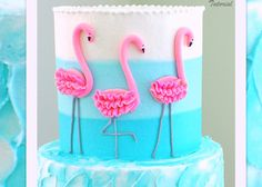 Learn to Make This CUTE Flamingo Cake (with ombre buttercream) in MyCakeSchool.c … – Flamingo – Cake Flamingo Cake, Flamingo Birthday, Pink Flamingos, Pretty Cakes, Cute Cakes, Gateaux Cake, Cake Videos, Cake Decorating Tutorials, Cupcakes Decorating