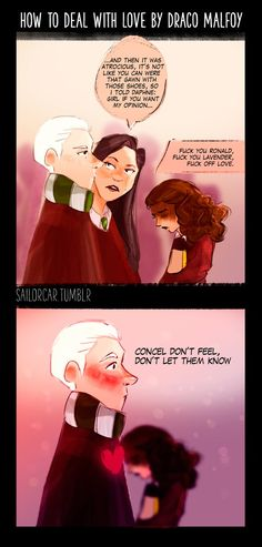 How Draco Malfoy deals with his feelings by BrandyAlexandra