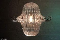 Can you believe this lamp is made from coat hangers???  Awesome!
