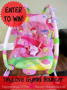 Tiny Love Gymini Bouncer Giveaway - Winner's Choice Gender Neutral or Tiny Princess  http://wp.me/p1BgSX-3nu