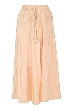 Blush Yellow Tiered Maxi Skirt Design by Ollari at Pernia's Pop Up Shop Samant Chauhan, Krishna Janmashtami, Neeta Lulla, Indian Fashion Designers, Manish Malhotra, Fake Photo, Pernia Pop Up Shop, Designer Wear, Blush