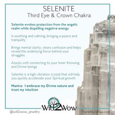 Selenite is a high vibration stone that never requires cleansing. You can actually use it to cleanse your auric field and your crystals. . It is truly one of my favorite stones to work with. It's a great stone to keep in all room of your house and to use when making Crystal Grids!