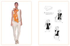 """This """"Bow"""" knot can be used for a Maxi-Twilly. Play with your Hermès scarf with the Silk Knots app! #Hermes #Silk #SilkKnots"""