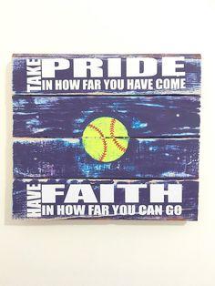 Softball Sign Softball Decor Girls Bedroom by TamieMarieDesign