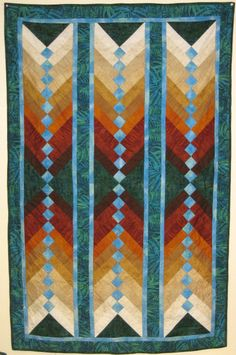 French Braid quilt by Ingrid Johnson, photo by Berit Hokanson at Northern Light Quilts