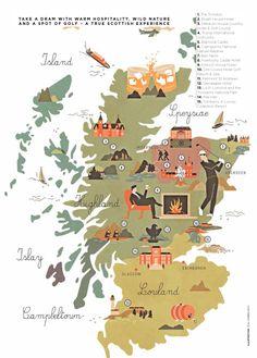 Vesa Sammalisto - map of Scotland #scotland #map