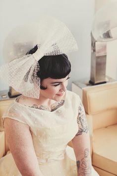 Beautiful vintage tatooed bride
