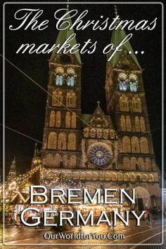 Discover what you'll find when visiting Bremen at Christmas, the beautiful German Christmas markets, Schnoor, the Glockenspiel & not forgetting the incredible Rathaus. Christmas Getaways, Christmas Travel, Germany Destinations, Travel Guides, Travel Tips, Bremen Germany, Christmas Information, German Christmas Markets, You Are The World