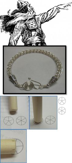 How to Make a Viking Knit Bracelet Tutorial using a dowel. #Wire #Jewelry #Tutorial
