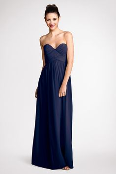 Our popular  Morgan Midnight sweetheart  neckline gets  extended to  floor  length.