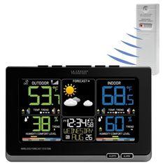 LaCrosse-C87214-Color-Wireless-Forecast-Weather-Station-Black-TX141TH-BCH-Sensor