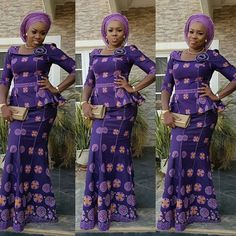 Ankara Styles Skirt and Blouse 2018 : Style 4 .Ankara Styles Skirt and Blouse 2018 : Style 4 African Print Dresses, African Print Fashion, African Fashion Dresses, African Dress, Ankara Fashion, African Lace, African Style, Lace Skirt And Blouse, Ankara Skirt And Blouse