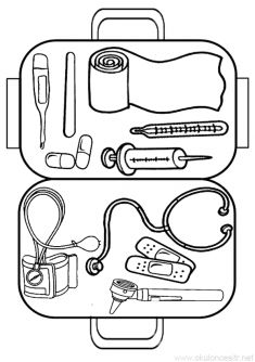 Kizilay Week Coloring Page- Kızılay Haftası Boyama Sayfası First Aid Kit for Preschool Girls' Week - Kindergarten Activities, Activities For Kids, Community Helpers Crafts, Chalkboard Classroom, People Who Help Us, Preschool Arts And Crafts, School Clipart, Kindergarten Teachers, Kids Education