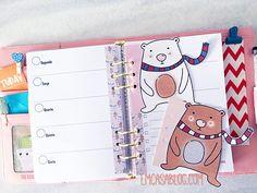 DOWNLOAD: KIT PLANNER BEAR Printable Planner, Free Printables, Bullet Journal, Happy Planner, Scrapbook, Bear, Kit, Drawings, Design