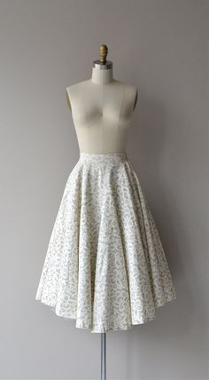 Lily White skirt vintage 50s skirt white 1950s by DearGolden