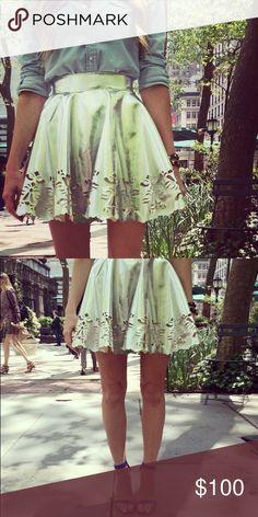 Keepsake the Label Metallic Lasercut Skirt Worn twice* Keepsake the Label Metallic Lasercut Mini Skirt as seen on Song of Style blogger. Size: XS Keepsake the Label Skirts Mini