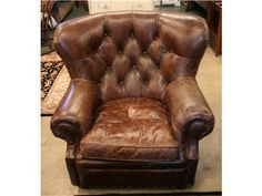 Leather Club Chairs - 4 available!