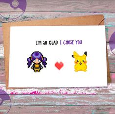 Long hair, don't care   Female Pokemon trainers unite  It's our fourth week live on Etsy and as it happened we just released our fourth card to our gamer greeting card store. Stop by and take a look (if you dare) :)