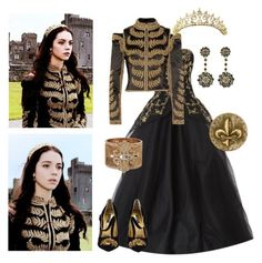 long may she reign Reign Dresses, Royal Dresses, Unique Prom Dresses, Vintage Dresses, Medieval Dress, Medieval Fashion, Classy Outfits, Beautiful Outfits, Reign Fashion