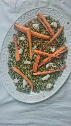 Roast carrot salad with hazelnut pesto and goat's cheese, an easy lunch recipe from ChopandChuck.co