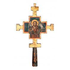 """Cruce din lemn, """"Sfântul Ioan Botezătorul"""", Ţara Românească, prima jumătate a sec. XIX"""