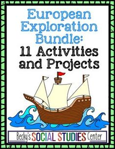 This comprehensive Age of the European Exploration bundle for sixth, seventh, and eighth graders & homeschool students will have students engaged individually, collaboratively, in partnerships or small groups to create talk shows, advertisements, currencies, debates, posters, dialogues, cover letters, newspapers, board games, movie trailers, scrapbooks, farewell speeches, illustrated epic poems, biography book jackets & a poem {6th, 7th, 8th grade, history, social studies activities, Europe} Social Studies Activities, Teaching Resources, Farewell Speech, Biography Books, Exploration, Teacher Newsletter, Teacher Pay Teachers, Small Groups, Thought Provoking