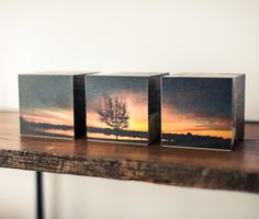 Photo cubes don't have to stand alone. Create a set to celebrate your favorite photographs and memories | Shutterfly.com #SFLYbydesign #homedecor