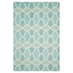 Anchor your living room or define a space in your master suite with this hand-tufted wool rug, showcasing a trellis motif in aqua. For the laundry room. ...