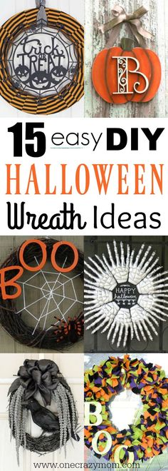We have DIY Halloween Wreath Ideas that are simple to make and won't break the bank. Try these 15 ideas that will make your house festive.