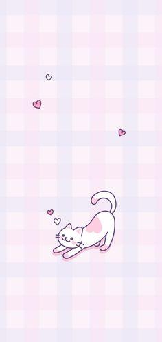Cat Phone Wallpaper, Purple Wallpaper Iphone, Purple Backgrounds, Colorful Wallpaper, Aesthetic Iphone Wallpaper, Wallpaper S, Aesthetic Wallpapers, Pastel Background, Cute Cartoon Wallpapers