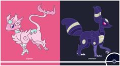 Pokemon Redesign #196-197 - Espeon, Umbreon ———————————————— You can check out the other eeveelutions here!