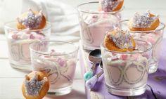 Glitzerkronen-Dessert Rezept: Quarkdessert mit viel Glitzer für den Kindergeburtstag kleiner Mädchen - Eins von 5.000 leckeren, gelingsicheren Rezepten von Dr. Oetker!