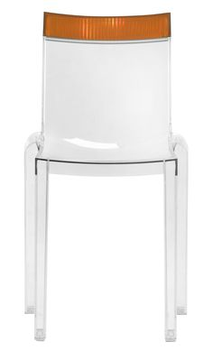 Hip Furniture - HI CUT - Kartell presents the latest evolution in transparency, Hi-Cut, a chair offering perfect ergonomical seating combining flexibility and solidity, while the changing vertical stripes on the top's structure add an attractive play of light and reflections.
