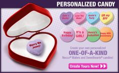 Who knew that you could personalize Conversation Hearts?
