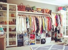 I want this closet. I miss my closer... when I was single...