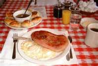 biscuits, eggs, country ham & red eye gravy...  THE SOUTHERN BREAKFAST!  So good!