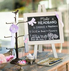 Have guests make headbands for your baby girl. A Good Affair Wedding & Event Production.