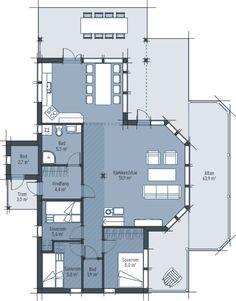 Saltdalshytta Aurora 956 - Saltdalshytta Tak, Aurora, Floor Plans, Northern Lights, Floor Plan Drawing, House Floor Plans
