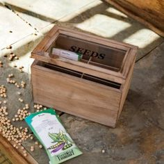 Rustic Wooden Seed Box