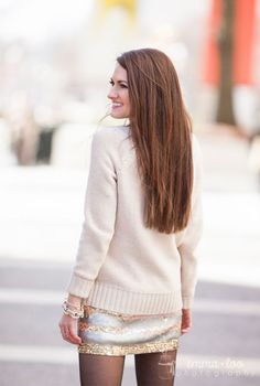 Sweater + sequin combo