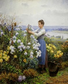 Maher Art Gallery: Daniel Ridgway Knight ~ Genre/Figurative painter