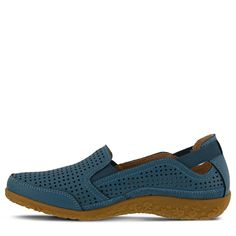 Spring Step Women's Juhi Wide Slip On Shoes (Blue Leather) - 41.0 W