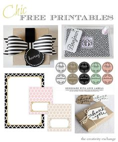 Round up of some of the most fabulous free printables online.  The Creativity Exchange