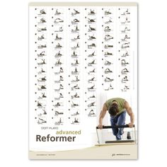 Stott Pilates Advanced Reformer Wall Chart