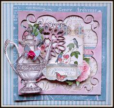 Card Tea - Scrapbook.com Chipboard Zarza Laser Papers G45