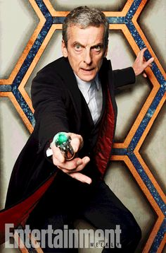 """Doctor Who showrunner Steven Moffat has come out to explain Peter Capaldi's """"grey-haired stick-insect"""" Twelfth Doctor look. Bbc Doctor Who, 12th Doctor, Twelfth Doctor, Geronimo, Christopher Eccleston, Police Box, Peter Capaldi, Torchwood, Entertainment Weekly"""