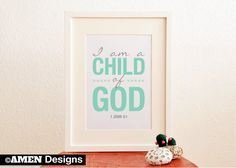 FREE Bible Printable - I Am a Child of God www.childrens-ministry-deals.com